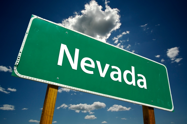 Nevada Road Sign